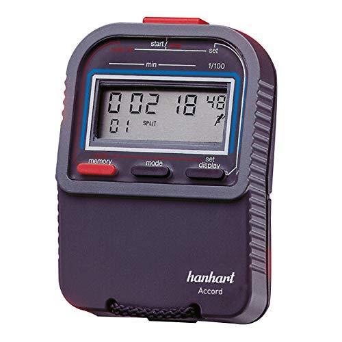 Hanhart elektronische Stoppuhr Accord 1 1/100 Min. Multifunktionsstoppuhr