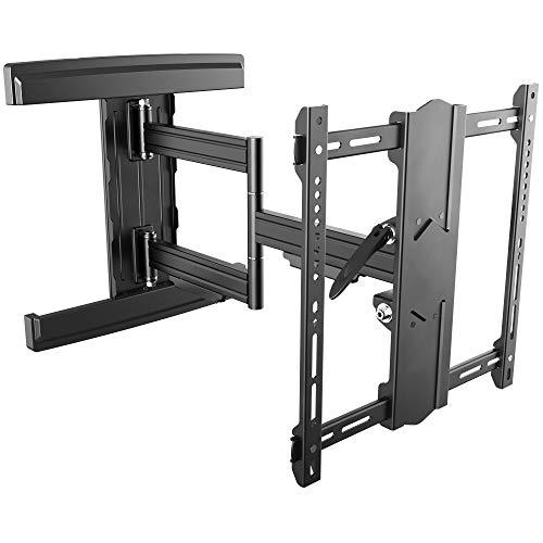 RICOO TV Fernseher-Wand-Halterung Schwenkbar Neigbar (S5744-B) Universal für 55-95 Zoll (bis 55-kg, Max-VESA 400x400) Flach Curved LCD OLED Bildschirm Fernsehhalterung
