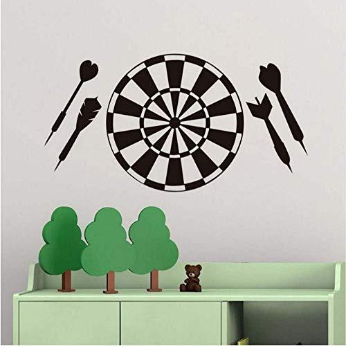 Kinderzimmer Dekorative Vinyl Abnehmbare Dart Sport Spiel Aushöhlen Dartscheibe Wandaufkleber Steuern Dekor Club Restaurant Wallpaper59 * 31 Cm