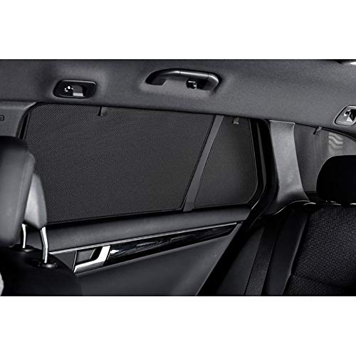Car Shades VAU-GRAN-5-A Juego Compatible con Opel Grandland X 2017, Negro