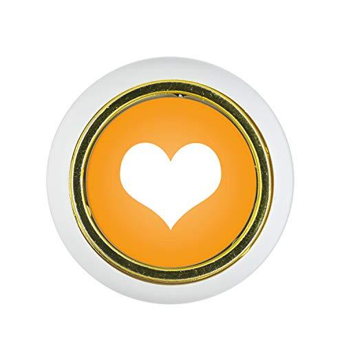 Möbelknopf Kunststoff Klein & Elegant KST06426W Weiss Herz Motiv - Kleine Universal Möbelknöpfe für Schrank, Schublade, Kommode, Tür, Küche, Bad, Haushalt Kinder Kinderzimmer