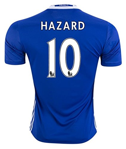 Adidas Chelsea FC No. 10 Eden Hazard Men's Home Soccer Jersey Adult XL