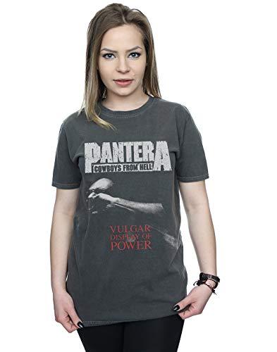 Absolute Cult Pantera Mujer Vulgar Display of Power Camiseta Lavada Novio Fit...
