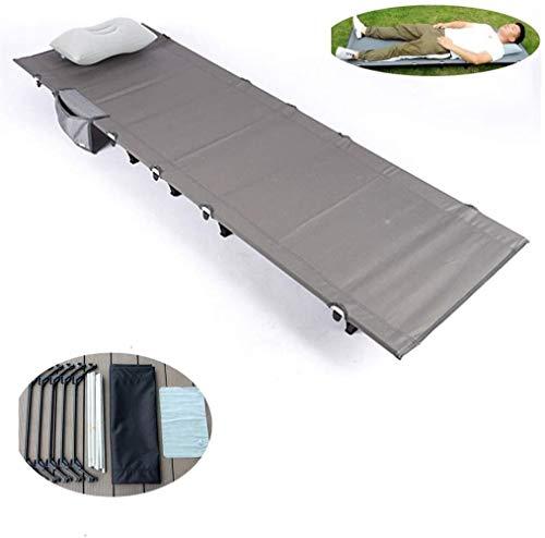 JNWEIYU Cama Plegable Ligero, portátil Cuna de Camping con Bolsa de Transporte for Adultos excursión la Caza Viajar, Acampar al Aire Libre Cama de aleación de Aluminio Individual Cuna de Camping