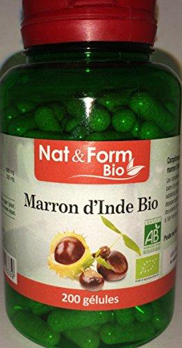 Marron d'inde BIO 200 gélules végétales