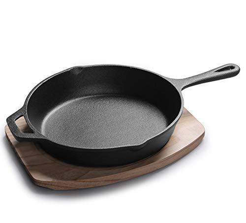 LRasdf Frying Pan Ei Pot Niet-aanbakkende Warp Minerale Versterking Riem Hout kan worden gebruikt in vaatwassers zoals zwart gezien op tv