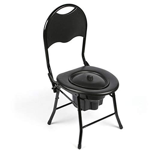 Sedia da Toilette Pieghevole per Anziani Bagno per Disabili Sgabello Mobile per WC Adatto per Comodino Bagno Comodo Pieghevole Salva Spazio