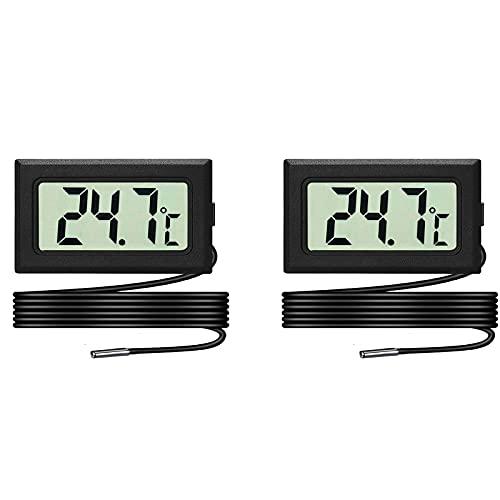 Lot de 2 LCD Thermomètres Aquarium, Thermomètre...