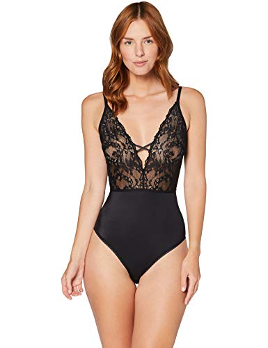 Amazon-Marke: Iris & Lilly Damen Body aus Spitze, Schwarz (Black Beauty), XL, Label: XL