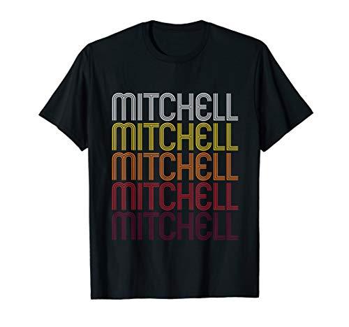 Mitchell Retro Wordmark Pattern - Vintage Style T-shirt
