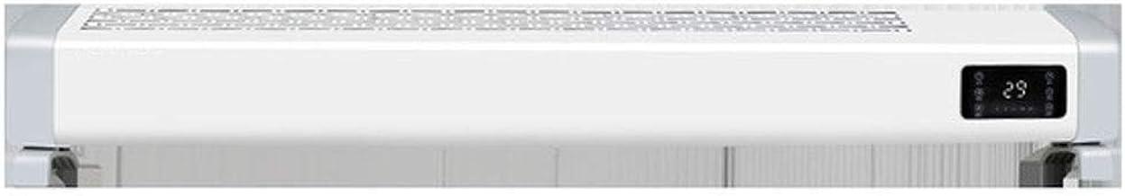 Radiador Eléctrico Calefactor eléctrico Convector eléctrico Rodapié calentador eléctrico con 2 configuraciones de temperatura, termostato manual, sobrecalentamiento y de vuelco interruptor de protecci
