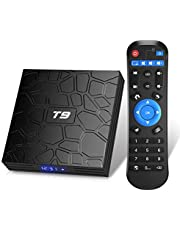 Android TV-box, T9 Android 9.0 TV-box 2 GB RAM/16 GB ROM RK3318 fyrkärnig stöd 2,4/5 GHz WiFi BT4.0 4K 3D HDMI DLNA Smart TV-box