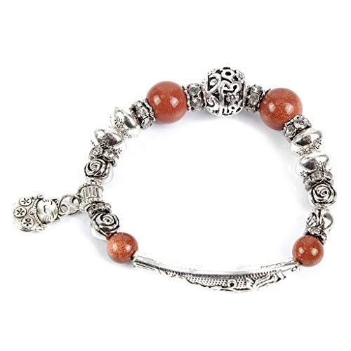 YJPDPYSH Europese en Amerikaanse sieraden, boutique temperament holle armband, Koreaanse versie van natuursteen visvormige armband
