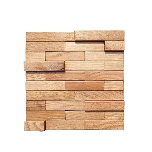 AIMU Paneles de Pared de Arte en 3D Chino Modern Solid Wood Strip Fondo Autoadhesivo Decoración de Wwall Adecuado for el hogar Restaurante Bar Materiales de decoración 30x30cm - 1 0pcs