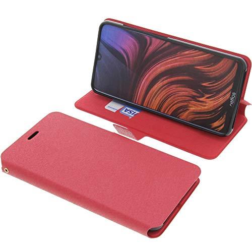 foto-kontor Tasche für TP-Link Neffos X20 Book Style rot Schutz Hülle Buch
