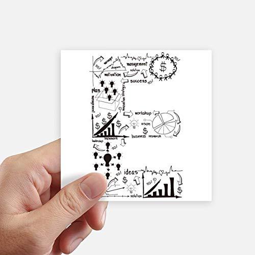 DIYthinker Travail Simple Brainstorm Illustration Courbe données Autocollant carré 10CM Mur Valise pour Ordinateur Portable Motobike Decal 8Pcs 10Cm X 10Cm Multicolor