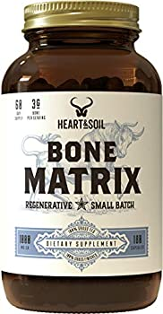 Heart & Soil Grass Fed Bone Matrix — Supports Bone and Joint Health Strength and Flexibility  180 Capsules