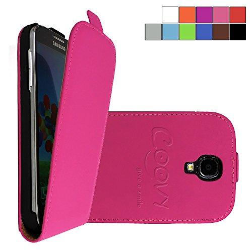 COOVY® Cover für Samsung Galaxy S4 GT-i9500 GT-i9505 GT-i9506 Slim Flip Case Tasche Etui inklusive gratis Displayschutzfolie   Farbe hotpink