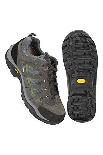 Mountain Warehouse Field Wasserfeste Schuhe für Herren - Vibram-Sohle, Wanderschuhe, Wildleder, Netzstoff, schnelltrocknend - Für Laufen, Reisen zu jeder Jahreszeit Grau 44