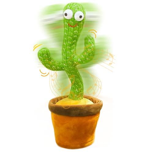 MAGIC SELECT Cactus Bailarin con Movimiento Electrónico. Juguete de Peluche Que Baila para Aprender Idiomas y Ritmo. Peluche Decorativo con Canciones. (Cactus Bailarín)