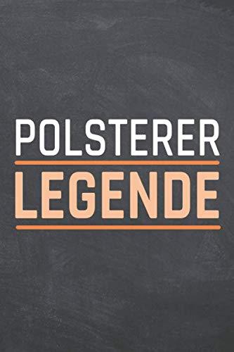 Polsterer Legende: Polsterer Punktraster Notizbuch, Notizheft oder Schreibheft - 110  Seiten - Büro Equipment & Zubehör - Lustiges Geschenk zu Weihnachten oder Geburtstag
