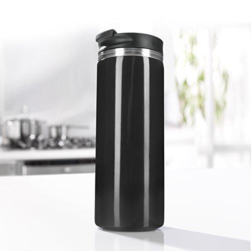 GOURMETmaxx French Press to go Thermo-Becher-Kaffeebereiter to go Becher 2in1 300ml ( Keine fortlaufende Extraktion! Kaffee wird im Zeitverlauf nicht stärker )