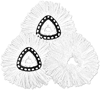 3 Pack Replacement Mop Head Spin Mop Refill,Microfiber Easy Cleaning Mop Head Replacement