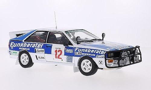 Audi Quattro A2, No.12, Funkberater, Safari Rallye, 1984, Modellauto, Fertigmodell, Sun Star 1 18