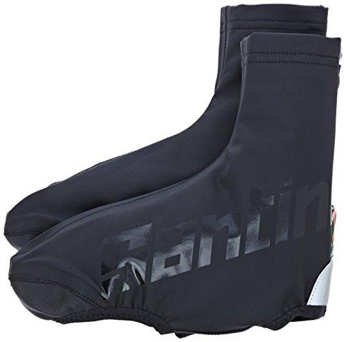 Santini Unisex's SP 577 Aero Waterproof Overshoes-Black, Medium