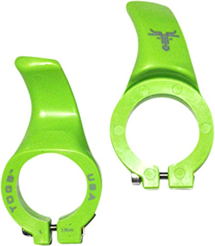 TOGS Zytel Acoples para Manillar MTB, Adultos Unisex, Verde, S