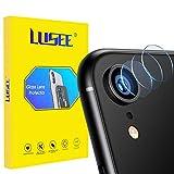 Lusee 3 Piezas Cristal Templado Lente Cámara para iPhone XR Alta Definición Ultra Clara 2.5D Protector Cámara Trasera Lente Película de Pantalla