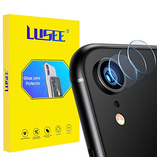 Lusee 3 Pezzi Fotocamera Lens Pellicola Protettiva per iPhone XR Chiarissimo AntiGraffio 2.5D Telecamera Pellicola Protettiva Film Protettivo Obiettivo Lente Vetro Temperato per iPhone XR
