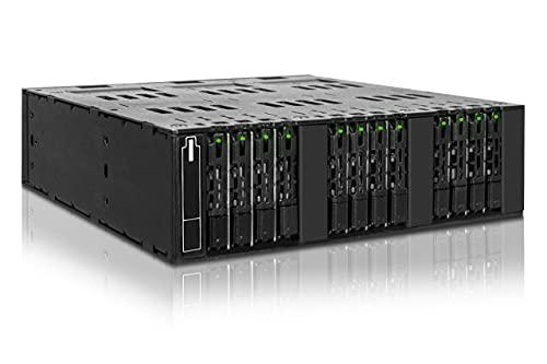 ICY DOCK ToughArmor MB872MP-B Hot Swap Wechselrahmen für 12x M.2 SATA SSD zu 3X OCuLink (SFF-8612) in 1x 5,25 Zoll Schacht Vollmetall schwarz