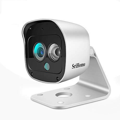 SriHome Cámara de Vigilancia WiFi Exterior y Interior, Cámara IP 1296P con Visión Nocturna, Detección de Movimiento, Audio de 2 Vías, Impermeable IP66, Compatible con iOS/Android