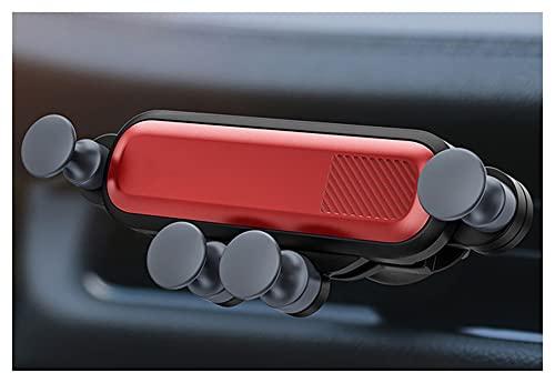YJHL Qiqibh Teléfono del automóvil Holdermobile HoldersMart Soporte para teléfonos I-Teléfono 12 Pro MAX para H-UAWEIFOR X-IAOMI para SERPORTE DE TELÉFONO S-AMSUNG (Color : Red)