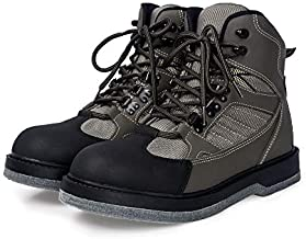 Mens Wading Boots Felt Outsole Fishing Shoes Fishing Boots for Men Fly Fishing Waders (13)