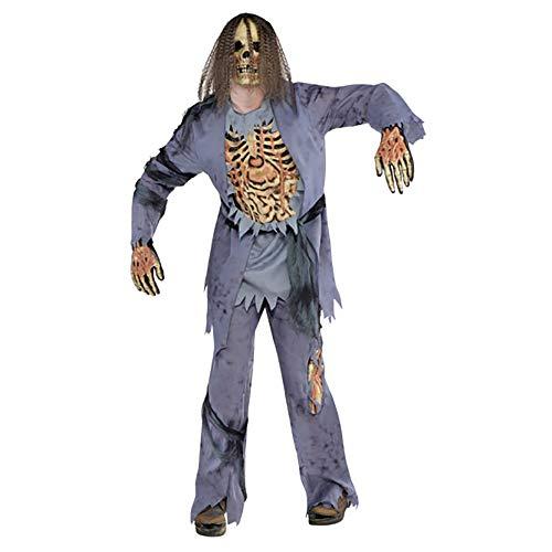 Yummy Bee - Disfraz de Zombie Corpse Hombre - Disfraz Terror Halloween - Gre 46-54 (XL-52/54)