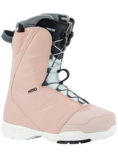 Nitro Snowboards Flora TLS '20 All Mountain Freestyle Chaussures de Snowboard pour Femme avec système de Lacets à Ouverture Rapide Rose 24,5 cm