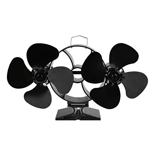 Kaminlüfter 8 Flügel Dual Heads Kaminlüfter Holzbrenner Heat Power Fan Für Holz/Holzofen/Kamin