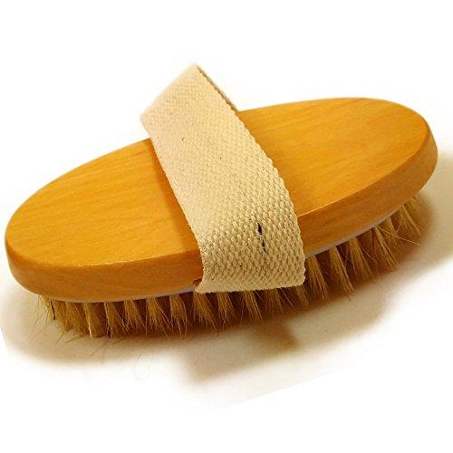 Glamza - Mini spazzola per il corpo con fascia per il palmo, 1 unità
