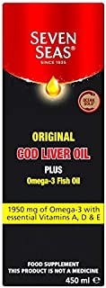 Seven Seas Orig Cod Liver Oil Plus Omega-3 Fish Oil 450ml