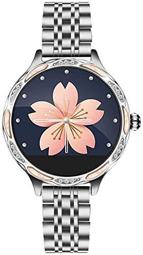 SHIJIAN Reloj de mujer inteligente de moda, recordatorio de periodo menstrual, reloj de pulsera de ejercicio a prueba de agua de ritmo cardíaco, regalo de las señoras