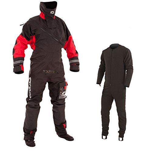 Typhoon Max B Drysuit Black/Red c/w Con Zip 2017 - Incl Undersuit
