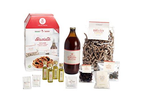 BUSIATE SICILIANE CON POMODORO CILIEGINO My Cooking Box x5 porzioni - Idea Regalo