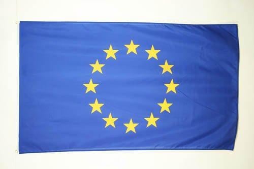 AZ FLAG Flagge EUROPÄISCHE Union 90x60cm - Europa Fahne 60 x 90 cm - flaggen Top Qualität