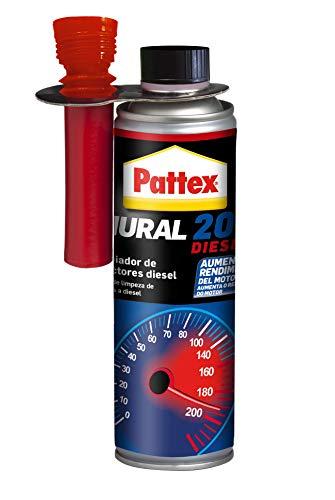 Pattex Nural, Limpiador de Inyectores Diesel, mejora la combustión y la aceleración, Incoloro