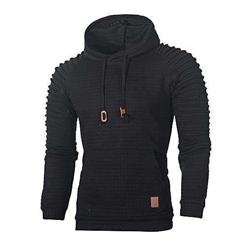 MITCOWBOYS Sudadera para hombre sin capucha, chaqueta deportiva de invierno, chaqueta con capucha, chaqueta con capucha, chaqueta para exterior