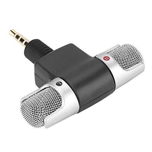 Jiawu Micrófono Externo Digital inalámbrico portátil, micrófono de Video, teléfonos móviles para grabación de Sonido Grabadoras de producción de Video para PC