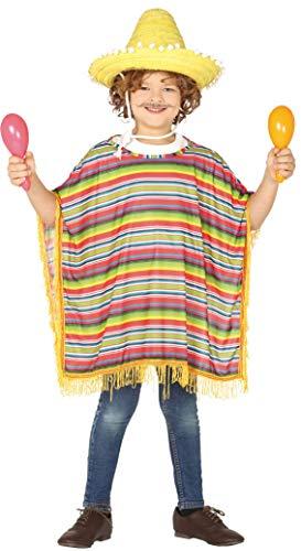 Guirca-88503 Poncho Mejicano Talla 7-9 años, Multicolor (88503)