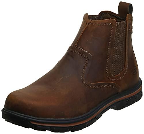Skechers Men s Relaxed Fit Segment - Dorton Boot,Dark Brown,10 M US
